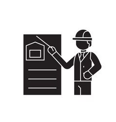 construction solution black concept icon vector image