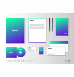 corporate identity template for technology company vector image
