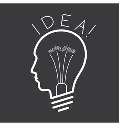 Creative Idea concept background vector image
