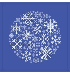 decorating design made of snowflakes vector image