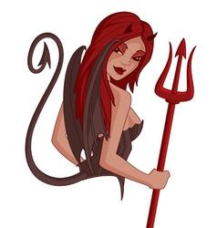 demon girl vector image