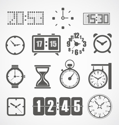 Different slyles clock collection vector