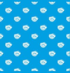 Eyelid elevation pattern seamless blue vector