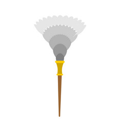 feather duster isolated maid accessory dust vector image