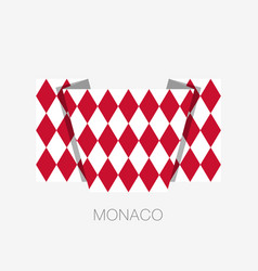 Flag of monaco alternate design version flat vector