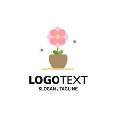flower present tulip spring business logo vector image