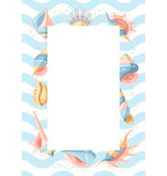 Frame with seashells vector
