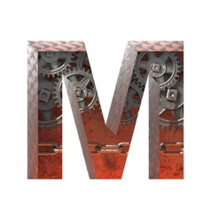 gears cutted figure m Paste to any background vector image