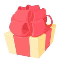 Gift icon cartoon style vector