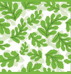 Green botanical leaf seamless pattern vector