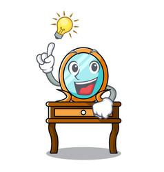 have an idea dressing table mascot cartoon vector image