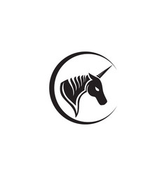 horse head black logo template vector image