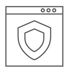 internet security thin line icon safety network vector image