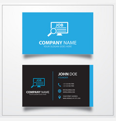 Job search icon business card template vector