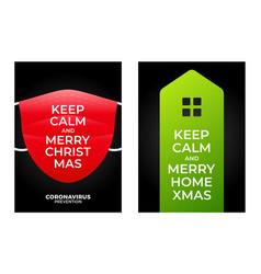 keep calm merry home christmas christmas poster vector image