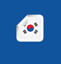 korea republic label flags template design vector image