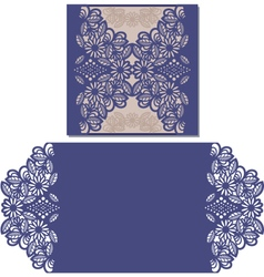 Laser cut pattern for invitation card vector image