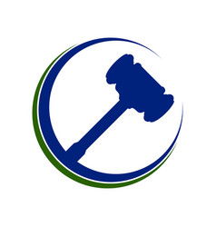 Law hammer justice eclipse symbol design vector