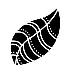 Leaf decorative isolated icon vector