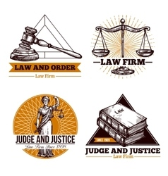 Legal Firm And Office Logo Set vector image