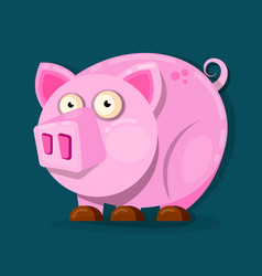 little pink pig in cartoon style chinese new vector image