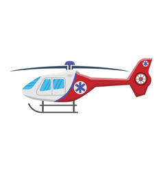 Medical helicopter icon isolated on white vector