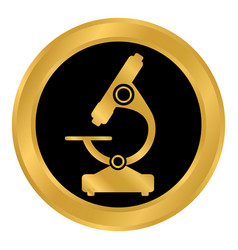 microscope button on white vector image