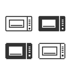 monochromatic microwave icon in different vector image