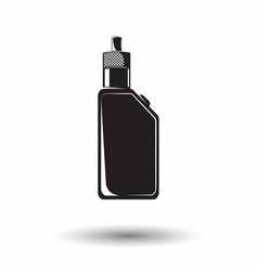 monochrome vape sign vector image