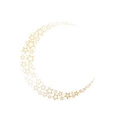 moon decorated on stars symbol vector image