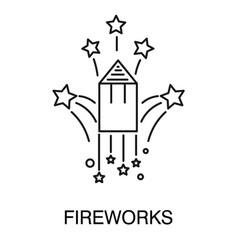 Party celebration fireworks burst isolated vector