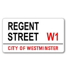Regent street vector