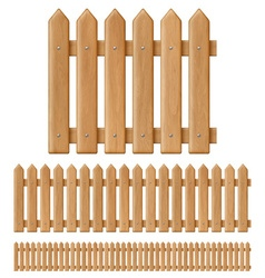 Seamless wooden fence vector