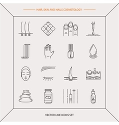 Set of cosmetology icons vector