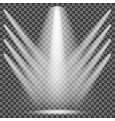 Set of White Spotlights vector