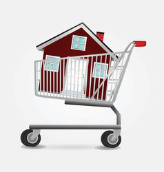 shopping home vector image