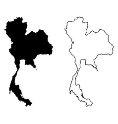 Simple only sharp corners map thailand drawing vector