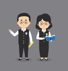 Stock cute teacher character vector