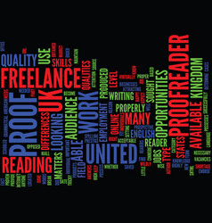 The opportunities as a freelance proofreader in vector