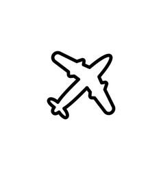 Thin line plane icon vector