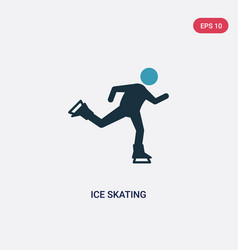 Two color ice skating icon from sports concept vector