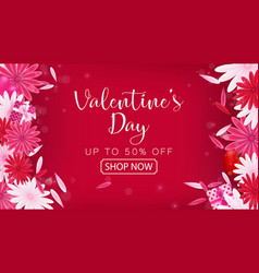 Valentines day sale red magenta vector