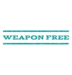 Weapon Free Watermark Stamp vector image