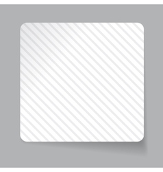 White paper sticker vector