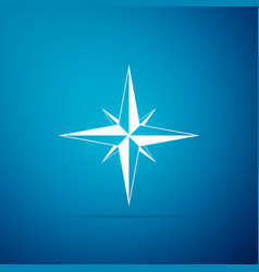 wind rose icon isolated on blue background vector image