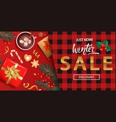 winter salediscount card for 2021 shopping season vector image