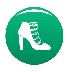 woman shoes icon green vector image
