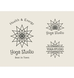 Yoga Studio Logo Template Set vector