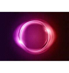 abstract round on black purple vector image vector image