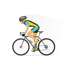 cyclist male on a white background vector image vector image